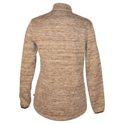African Nature Women's Lux Melange 1/4 Zip Fleece Top
