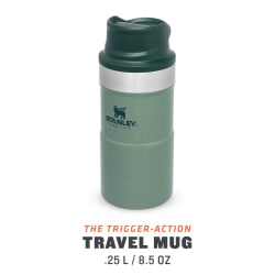 Stanley Classic Trigger Action Mug 250ml Hammertone Green