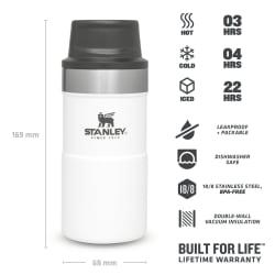 Stanley Classic Trigger Action Mug 250ml Polar