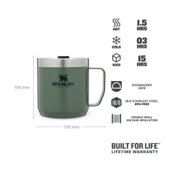 Stanley Classic Camp Mug 350ml Hammertone Green