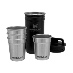 Stanley Adventure S/Steel Shot Glass Set Matt Black