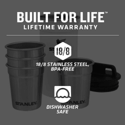 Stanley Adventure S/Steel Shot Glass Set Polar