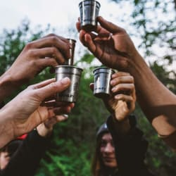 Stanley Adventure Shot + Flask Gift Set Hammertone Green