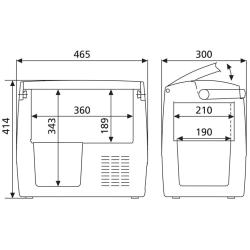 Dometic CDF 18 AC/DC Fridge/Freezer