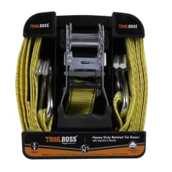 TrailBoss 4M Ratchet Tie Down with Double S-Hooks 1Pack