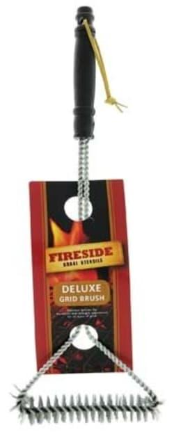 Fireside Long Handle Porcelain Grill Brush