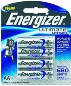 Energizer Lithium 4 pack AA