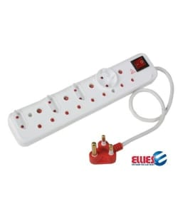 Ellies 8 Way Multiplug with surge protection
