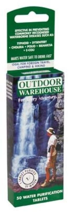 Outdoor Warehouse Water Purification Tablets