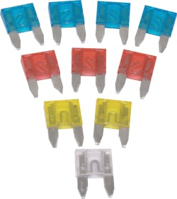 Moto-Quip Miniature Blade Fuses -  Pack of 10 Assorted