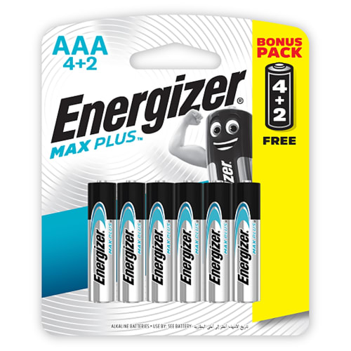 Energizer Maxplus AAA 6 pack