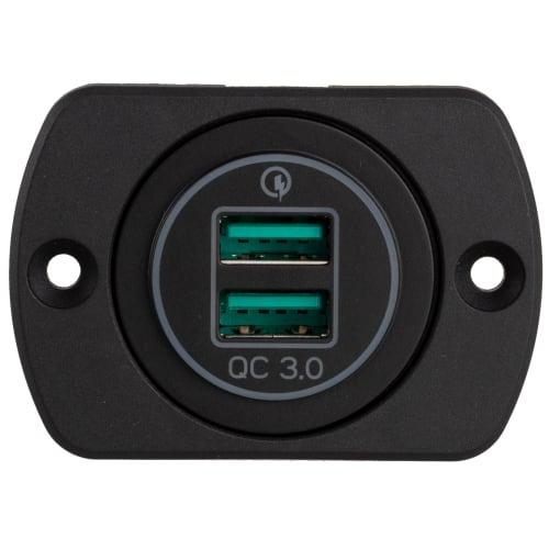 National Luna 29mm Panel Mount QC3.0 quick charger dual USB
