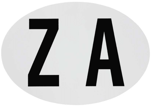 Small ZA Sticker