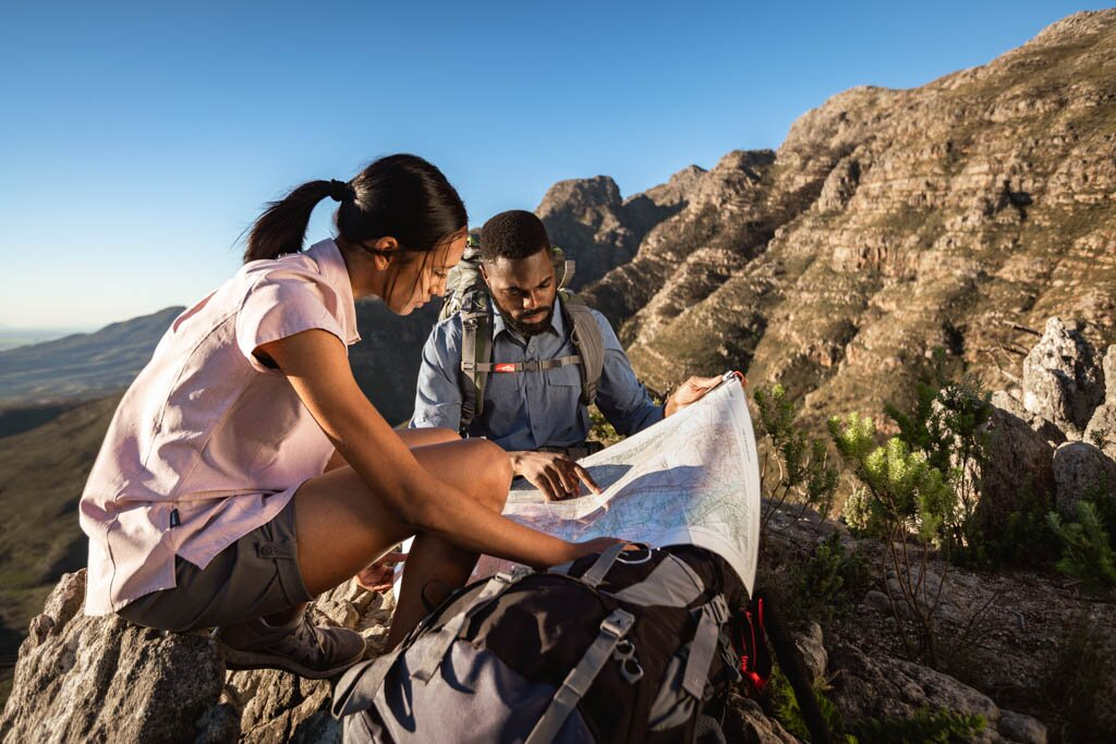 Hiking lifestyle plan ahead map