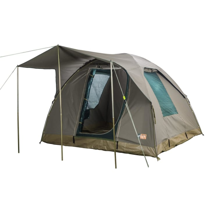 Campmor Overlander 4-person Canvas Dome Tent with Large Awning