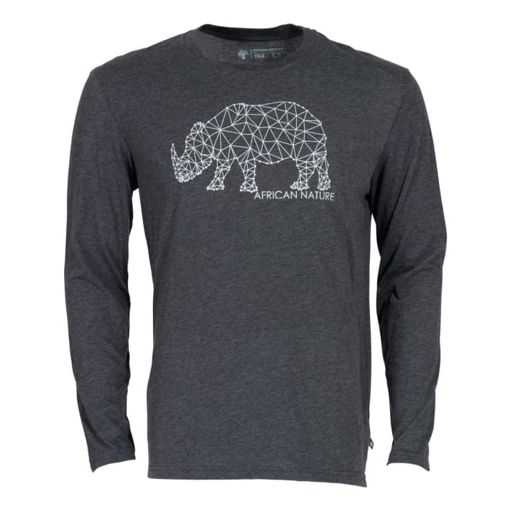 African Nature Men's Rhino Long Sleeve Tee