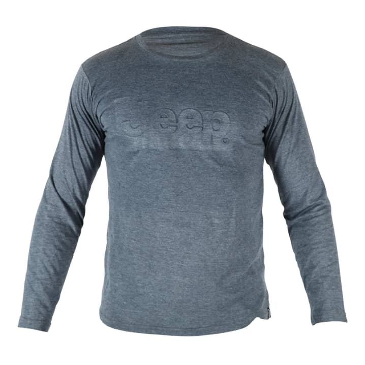Jeep Mens Embossed Logo Long Sleeve Tee