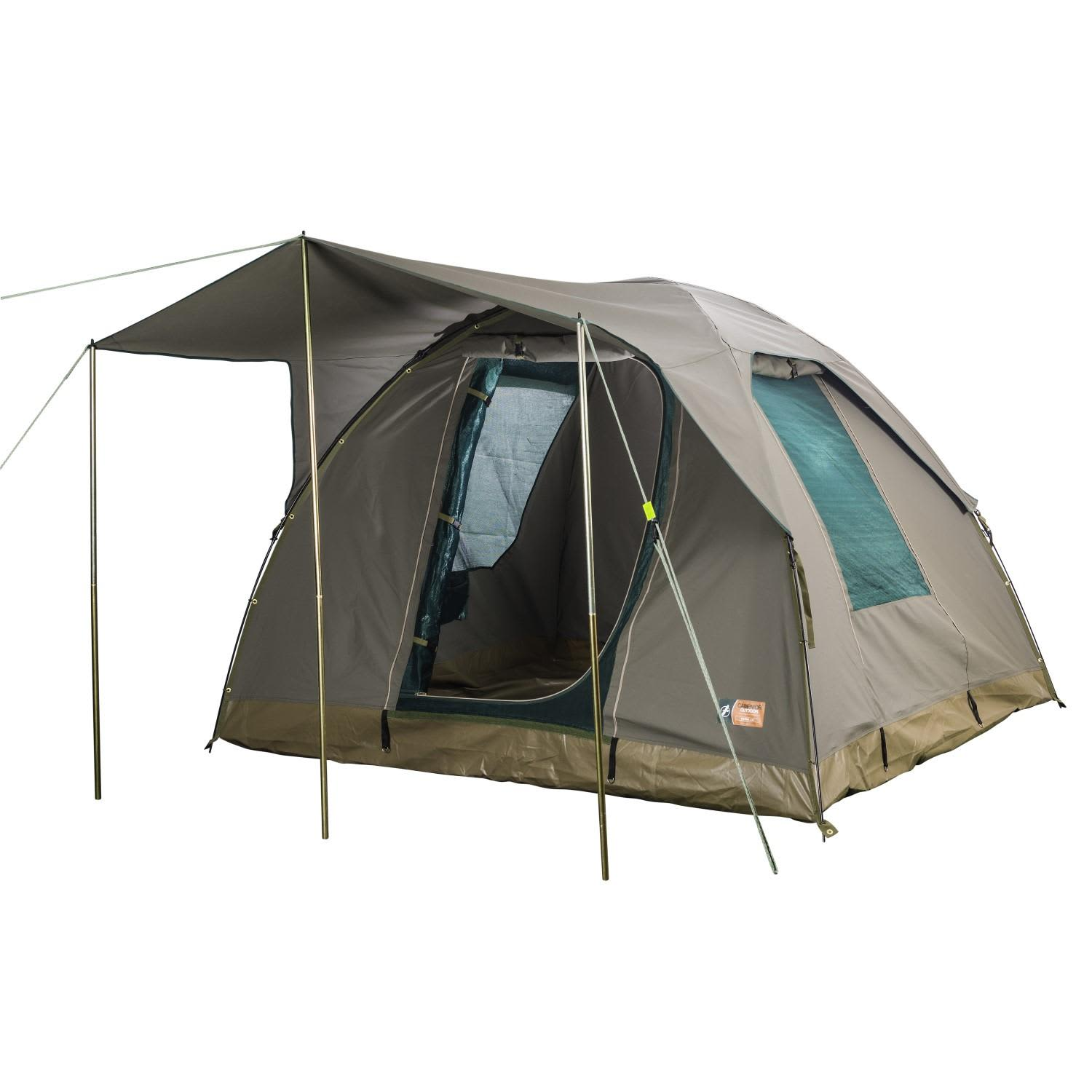 Campmor Overlander 4 Person Canvas Dome Tent With Large Awning