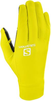 Salomon PULSE Fingerhandschuhe sulphur spring-black