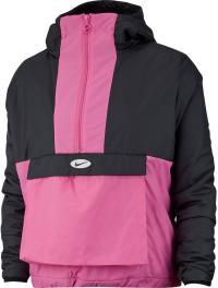 Nike NSW Windbreaker Damen black-china rose-white