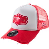New Era Trucker A-Frame NE Cap front door red-optic white