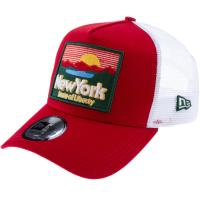 New Era Trucker A-Frame Cap scarlet