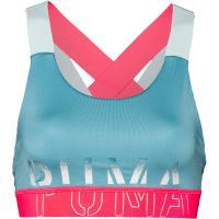 PUMA Sport-BH Damen milky blue-pink alert-puma black