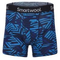 Smartwool MERINO 150 PRINTED BOXER BRIEF Männer BRIGHT COBALT