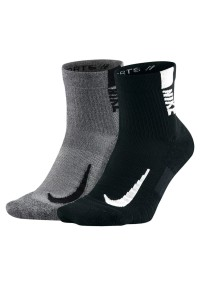 Nike Multiplier Ankle 2 Pair Schwarz