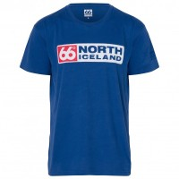 66 North - Logn T-Shirt Long Logo - T-Shirt Gr L;M;S;XL;XXL blau;schwarz;rot;weiß/grau Retro Blue