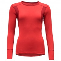 Devold - Hiking Woman Shirt - Merinounterwäsche Gr L;M;S;XL;XS schwarz;rot;grau Chilli