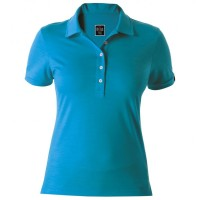 Rewoolution - Women's Mirth - Polo-Shirt Gr M;XS schwarz;blau Fjord
