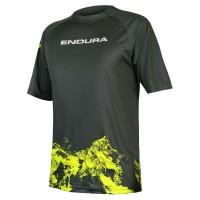 Endura Singletrack Print T-Shirt Mountains   khaki