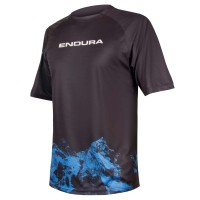 Endura Singletrack Print T-Shirt Mountains   marine