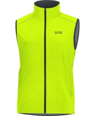 Gore Wear R3 Gore Windstopper Weste Men - Winddichte Sportweste - gelb - Gr.XL