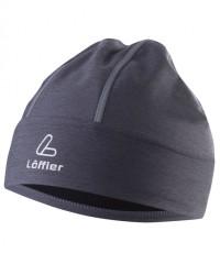 Löffler Reflector Mütze 20551 - Fleecemütze mit Reflektorelementen - grau mele