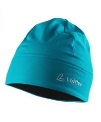 Löffler Mono Mütze Thermo Velours Light 20539 - Mütze aus Stretchfleece - laguna türkis