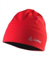 Löffler Mono Mütze Thermo Velours Light 20539 - Mütze aus Stretchfleece - rot