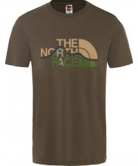 The North Face Mountain Line Tee Shirt Men - T-Shirt - new taupe green - Gr.XL