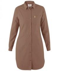 Fjällräven Övik Shirt Dress Women - Freizeitkleid - dark sand brown - Gr.L