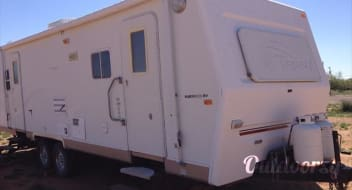 Terry EX Camp Trailer $68 to $57.80 per day)  w/Slideout
