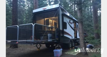 Let Us Deliver to you an Oasis in the High Desert:  2016 Coachmen Adrenaline 25' trailer with patio option