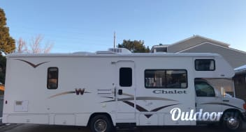 Winnebago Chalet Class C with two slide outs for more room.  20% discount for 7days or more rental.