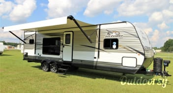 Let us set you up for some fun & relaxation in this incredible trailer!  We'll deliver and set up to your campsite!