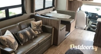 """2019 Entegra Odyssey with 50"""" LED TV & outdoor kitchen!"""