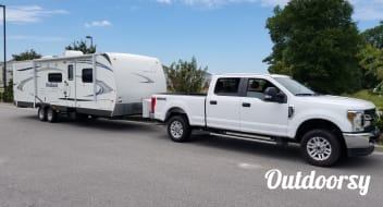Enjoy Family Camping in Myrtle Beach in Our Keystone Outback!