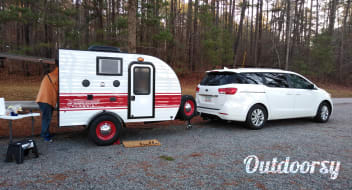 All Inclusive Teardrop RV Camper Just Bring Your Food and Sleeping Bag!
