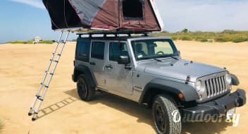Jeep Wrangler Overlander #2 with Roof Top Tent and camping equipment