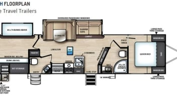 """2018 VIBE 32BH - """"Perfect Getaway"""" has 2 Bedrooms with Doors and 1.5 Baths"""