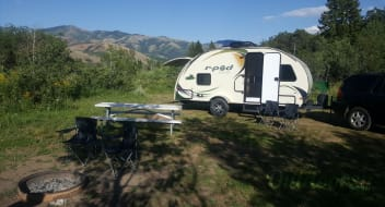 R-Pod, solar powered, first-time camper ready.